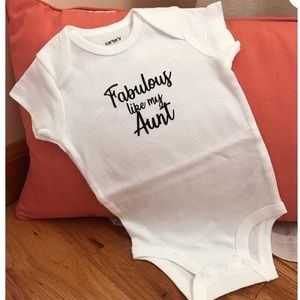 Other - Boutique custom baby bodysuit size 3 & 6 months